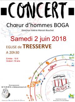Concert Boga à Tresserve 02.06.2018