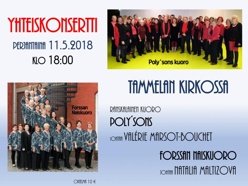 Concert en finlande 11.05.2018