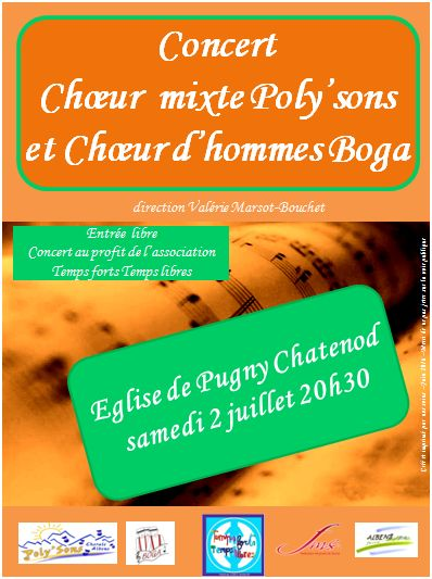 Concert Poly'sons + Boga - Pugny Chatenod - Juillet 2016