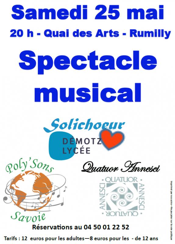 Affiche concert quai des arts 25 05 2019 poly sons annesci solichoeur