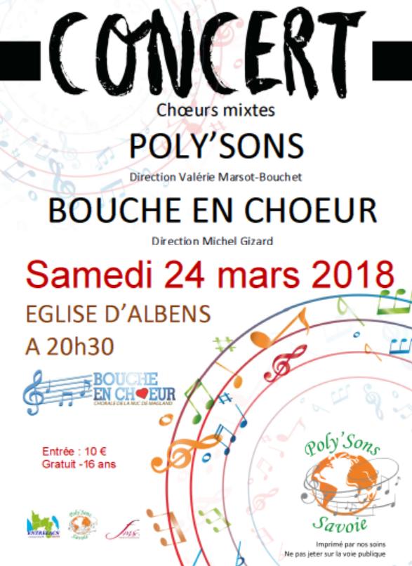 Affiche poly sons bouche en choeur 24 03 2018 albens 2