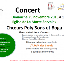Les Poly'sons et les Boga à la Motte-Servolex